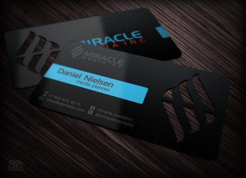 14_Business Card for Miracle Media Inc