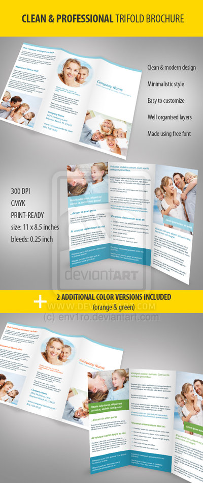 27_Clean and Professional Trifold Brochure