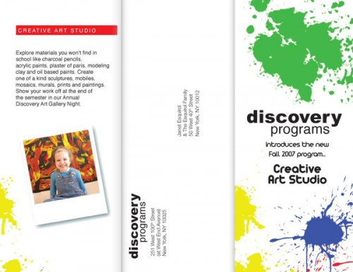 4_Trifold Brochure - Discovery Programs