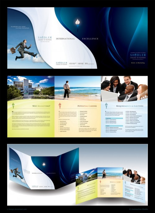 30 best tri fold brochure designs for your inspiration for Hotel brochure design inspiration