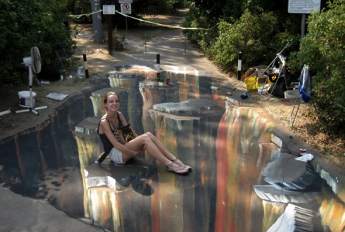 3D Street Art in Moscow