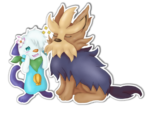 Agnes and Max Sticker Commish