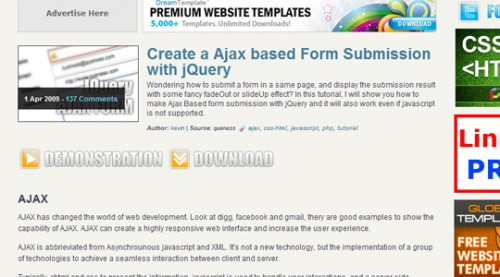 Ajax-based Form Submission