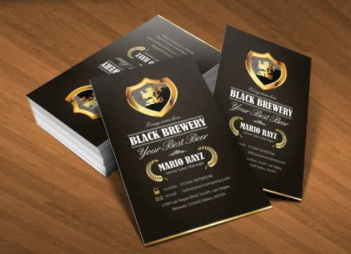 Black brewery business card v1