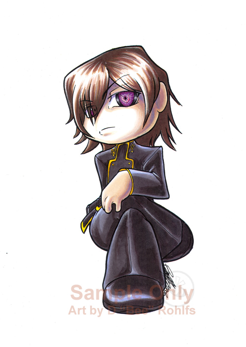 Chibi Lelouche sticker design