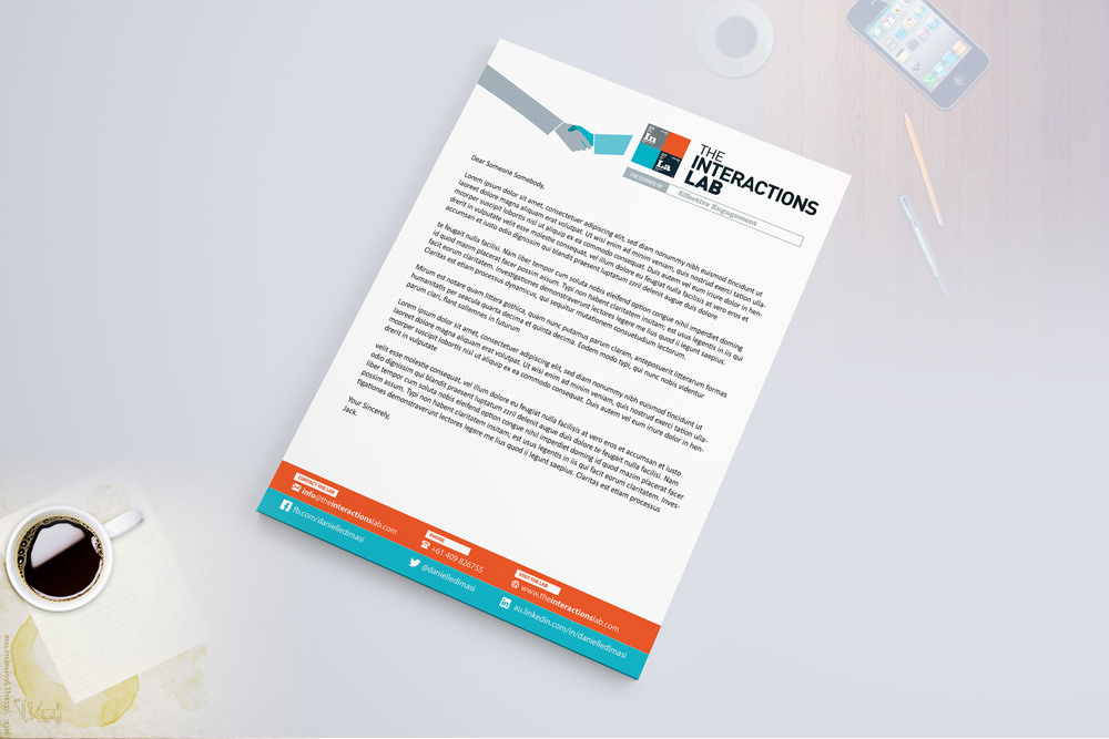 creative letterhead design ideas