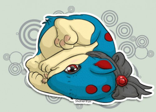 Cute Quilava Sticker