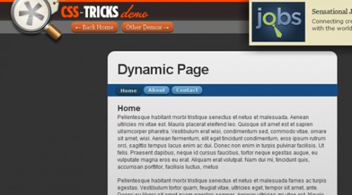 Dynamic Page Content Replacement