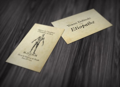 Etiopathe Business Card Mockup