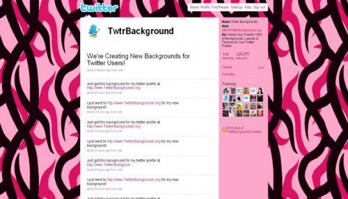 Hot Pink Camouflage Twitter Background