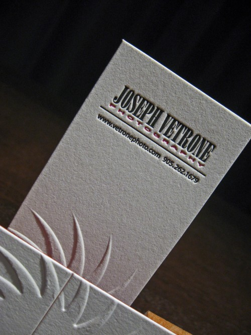 Joseph Vetrone Photograph Business Cards