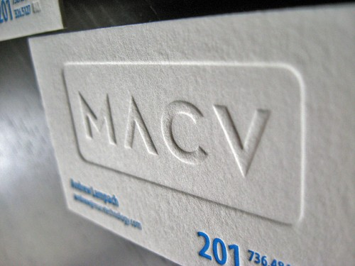 MACV Letterpress Business Cards