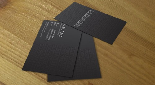 Minimalist embossed business 3