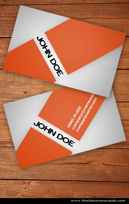 Orange Business Card by Fresh business cards