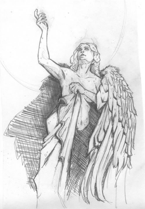 Pencil drawing of Statue
