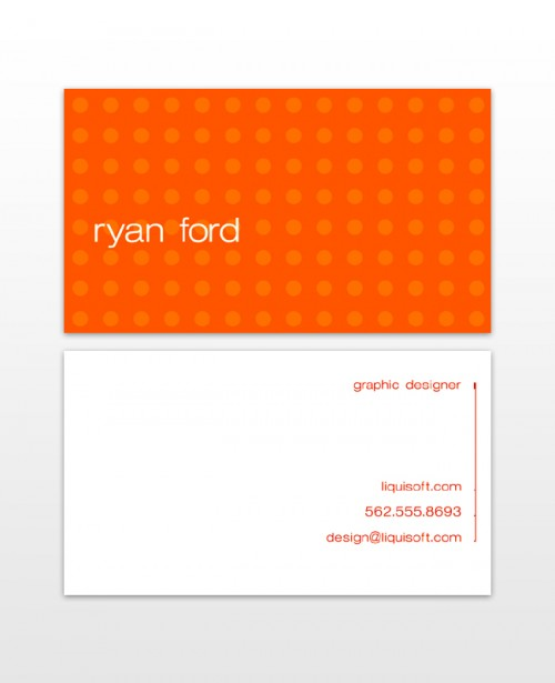 Personal Business Cards-Orange