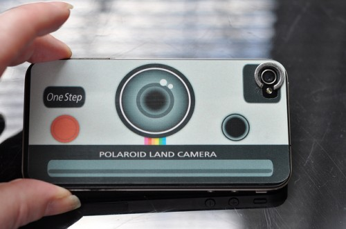 Polaroid stciker for the back of my iPhone4