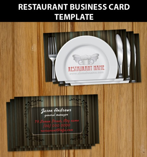 Restaurant Business Card Templ