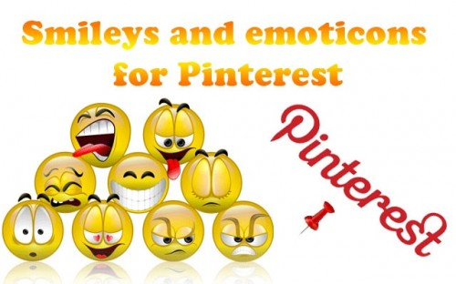 Smileys and emoticons for Pinterest