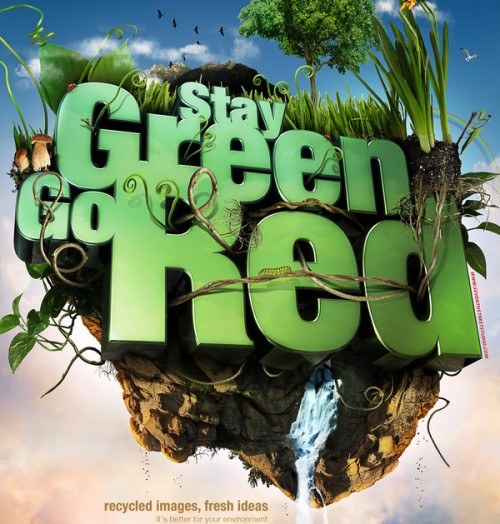 Stay green. Go red