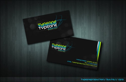 Typeone Prod. Business Card