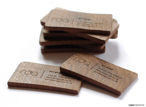 Wooden Business Card Design