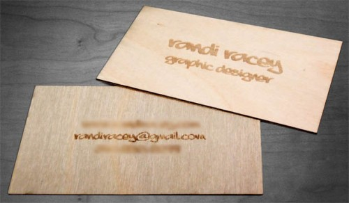 Wooden Business Card by Racey Graphics
