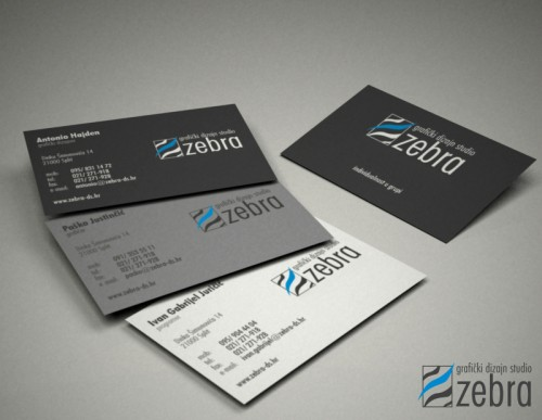 Zebra logo and card