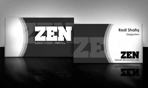 Zen Business Card Black