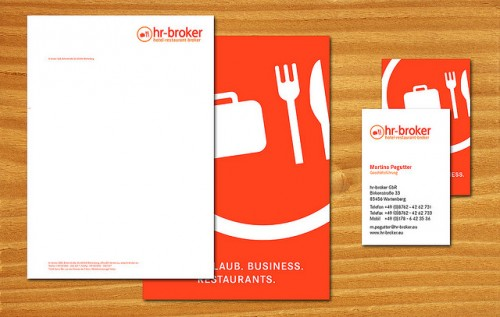 hr broker briefbogen visitenkarte - Letterhead Design Ideas