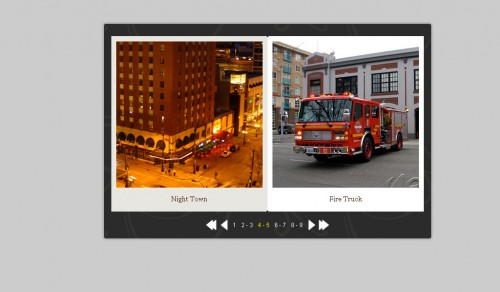 jQuery Flipbook Slider