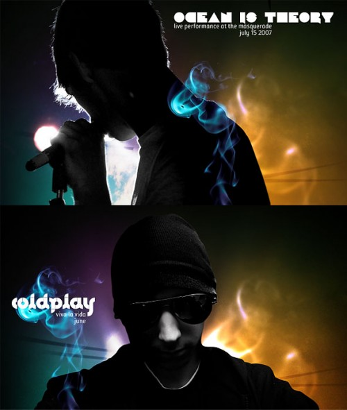 Design a Coldplay Apple inspired portrait