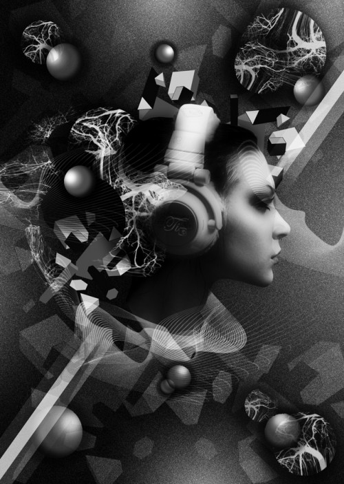 Enigmatic Black and White Flyer Design Tutorial with Photoshop