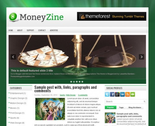 MoneyZine Blogger Template