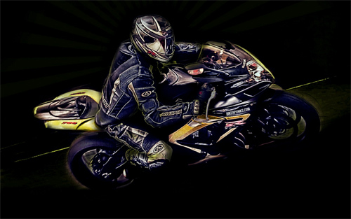 Motorcycle Rider for Kevin