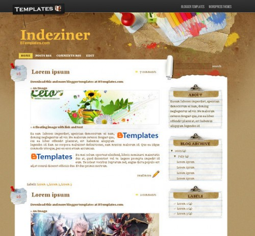 Paper Wall Blogger Template