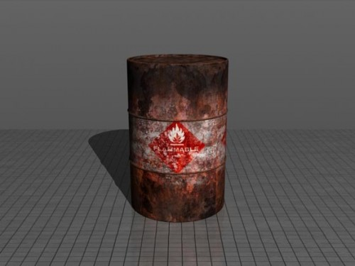 Realistic Flammable Barrel