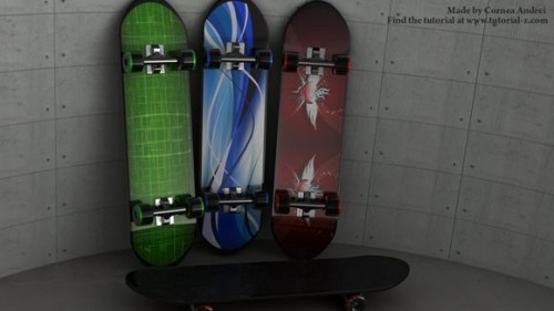 Skateboard modeling and texturing tutorial
