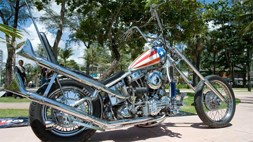 The New Captain America Harley Chopper