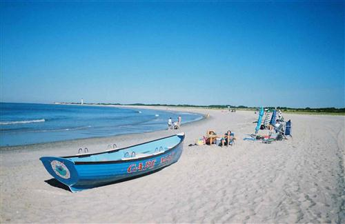 Beach of Cape May in City New Jersey, USA