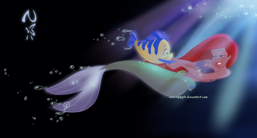 Ariel Flipping your Fins
