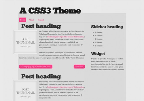 Free HTML5 and CSS3 Theme