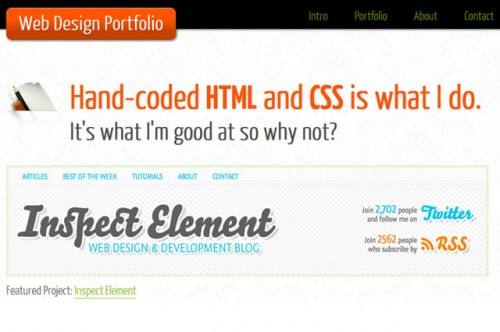One Page Portfolio (HTML5 and CSS3)