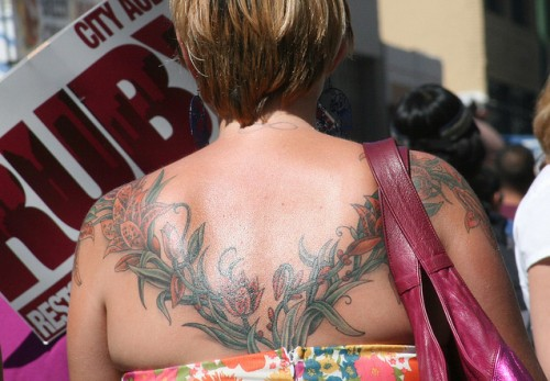 Floral Back Tattoo for Women