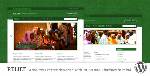 Relief - Charity Responsive WP Theme