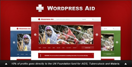 WordPress Aid: Charity + Blog Theme