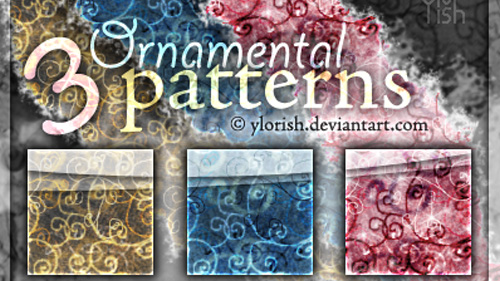 3 Ornamental Patterns for Photoshop