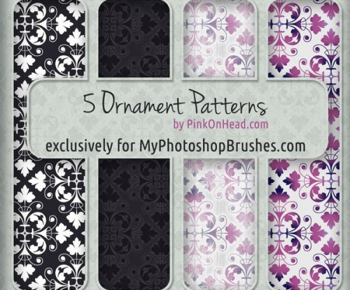 5 Free Ornament Patterns for Photoshop