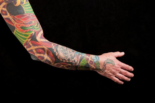 Mature Man's Tattooed Arm