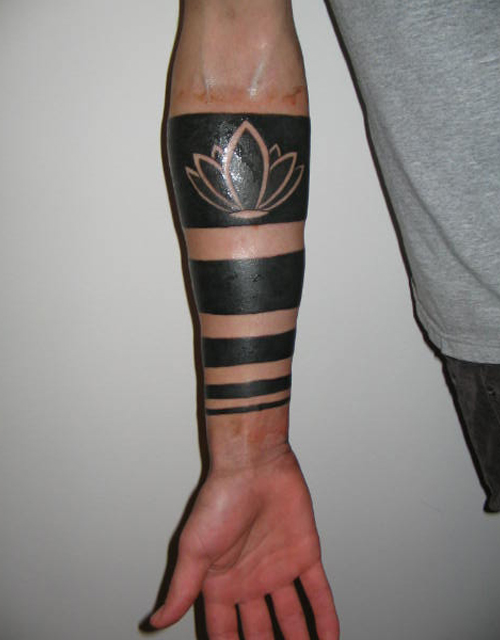 Stripes Tattoo Design on Arm